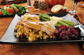Thanksgiving-Essen — Stockfoto
