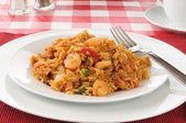 Shrimp stir fry — Stock Photo