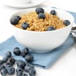 Granola with fresh blueberries — Stock Photo