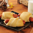Pigs in a blanket — Stock Photo