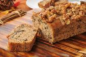Banana nut bread — Stock Photo