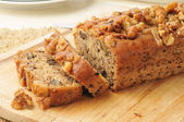 Banana nut bread — Stock Photo