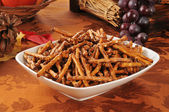 Pretzels on a holiday table — Stock Photo