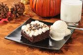 Holiday brownies — Stock Photo