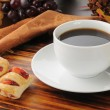Royalty-Free Stock Photo: Coffee with mini strudels