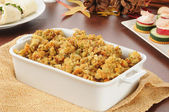 Turkey stuffing and appetizers — Stock Photo