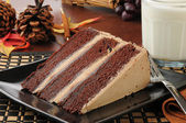 Chocolate espresso cake with milk — Foto de Stock