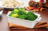 Serving dish of broccoli — Stock Photo