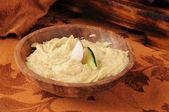 Knoflook spice bieten hummus — Stockfoto