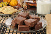 Fudge with milk — Stock Photo