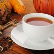 Stock Photo: Pumpkin spice rooibos tea