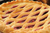 Cherry pie closeup — Stock Photo