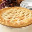 Gourmet peach pie — Stock Photo