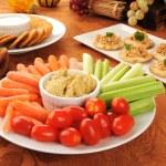 Healthy holiday snacks — Stock Photo