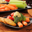 Stock Photo: Healthy snack plate