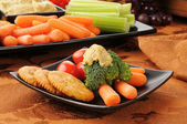 Healthy snack plate — Foto de Stock