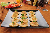 Crackers with lobster dill pate — 图库照片