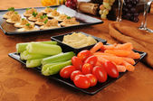 Vegetable snack plate — Stock Photo