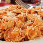 Tortellini with tomato sauce — Stock Photo #16332897