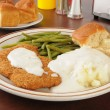Stock Photo: Chicken fried steak