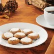Stock Photo: Molasses cookies and coffee