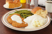Chicken fried steak — Stock Photo