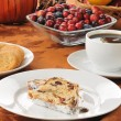 Cranberry almond stollen with coffee — Stock Photo #17449685