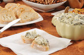 Spinach artichoke dip — Stock Photo