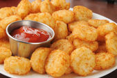 Hash brown potato cakes — Stock Photo