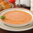 Stock Photo: Tomato bisque soup