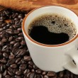 Fresh black coffee — Stock Photo