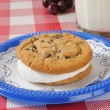 Chocolate chip cookie sandwich — Stock Photo #22102997