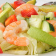 Shrimp and avocado salad — Stock Photo