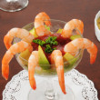 Stock Photo: Shrimp cocktail with avocado