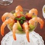 Shrimp cocktail with avocado — Stock Photo #22713445