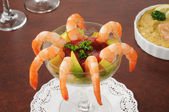 Shrimp cocktail with avocado — Stock Photo