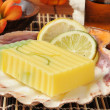 Lemon Lime Glycerin Soap - Stock Photo