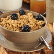 Granola cereal with blackberries - Stockfoto