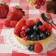 Fresh berry tart - Stockfoto