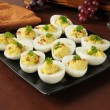 Stock Photo: Egg salad appetizers