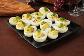 Egg salad appetizers — Stock Photo
