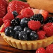 Stock Photo: Gourmet fruit tart
