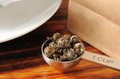 Green tea pearls — Stock Photo