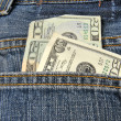 Pocketful of money — Stock Photo