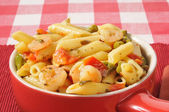 Chicken and broccoli on rigatoni — Stock Photo