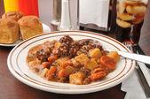 丰盛的牛肉炖煮的食物 — 图库照片