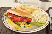 Grilled vegetable panini — Stock Photo