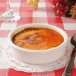Stock Photo: Creme Brulee in white ramekin