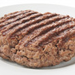 Stock Photo: Grilled ground sirlion pattie