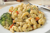 Tender chicken in basil parmesan sauce — Stock Photo